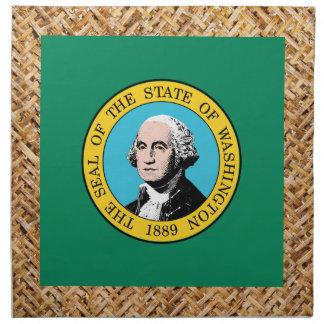 Bandera de Washington en la materia textil Servilleta Imprimida