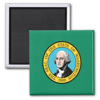 Bandera de Washington Imán Cuadrado