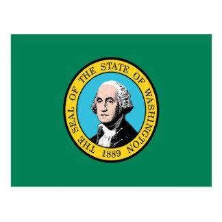 Bandera de Washington Tarjetas Postales