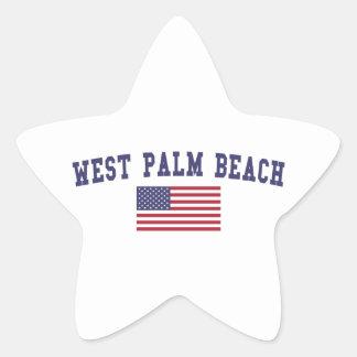 Bandera de West Palm Beach los E.E.U.U. Pegatina En Forma De Estrella