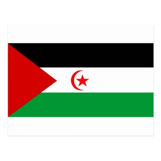 Bandera de Western Sahara Tarjeta Postal