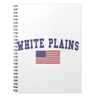 Bandera de White Plains los E.E.U.U. Libro De Apuntes