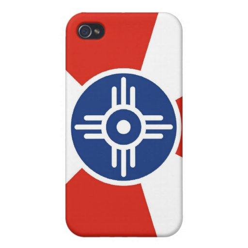 Bandera de Wichita iPhone 4 Funda