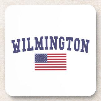 Bandera de Wilmington DE los E.E.U.U. Posavaso