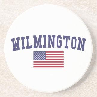Bandera de Wilmington DE los E.E.U.U. Posavasos Manualidades