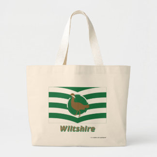 Bandera de Wiltshire con nombre Bolsas