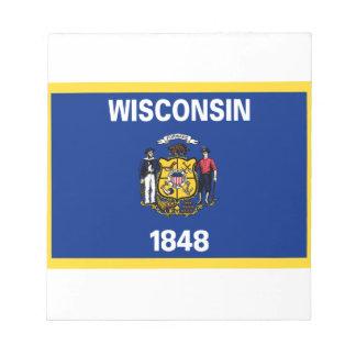 Bandera de Wisconsin Bloc De Notas