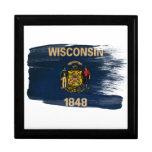 Bandera de Wisconsin Caja De Recuerdo