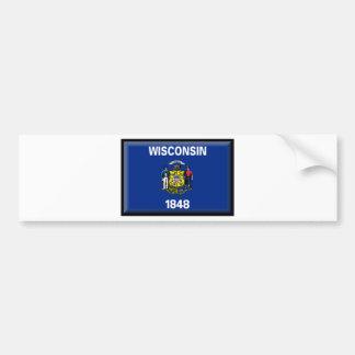 Bandera de Wisconsin Pegatina Para Coche