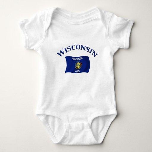 Bandera de Wisconsin Camisetas