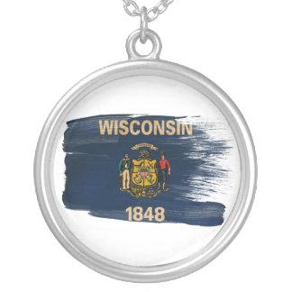 Bandera de Wisconsin Colgante Redondo