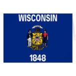 Bandera de Wisconsin Felicitación