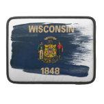 Bandera de Wisconsin Fundas Para Macbooks
