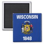 Bandera de Wisconsin Iman De Nevera