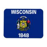 Bandera de Wisconsin Imán De Vinilo