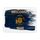 Bandera de Wisconsin Imán Flexible