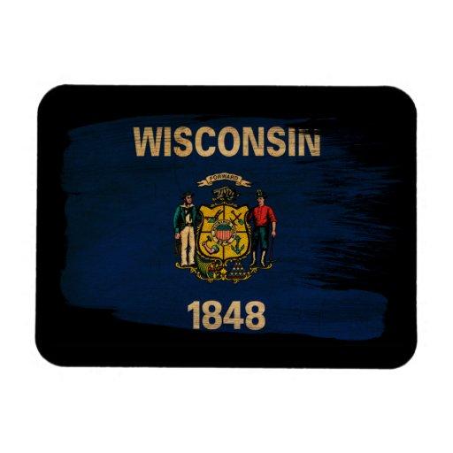 Bandera de Wisconsin Imanes