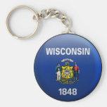 Bandera de Wisconsin Llavero Personalizado