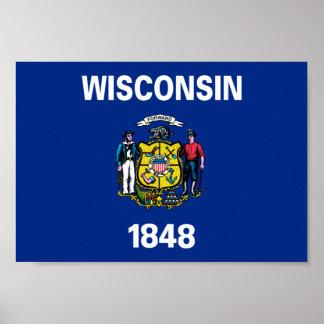Bandera de Wisconsin Póster