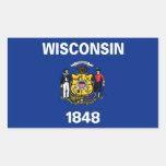 Bandera de Wisconsin Rectangular Altavoz