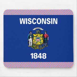 Bandera de Wisconsin Tapete De Ratón