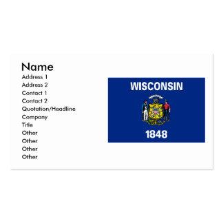 Bandera de Wisconsin Tarjetas De Visita