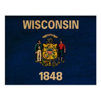 Bandera de Wisconsin Tarjetas Postales