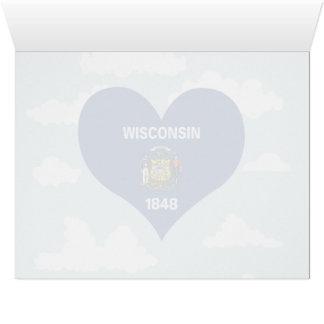 Bandera de Wisconsinite en un fondo nublado