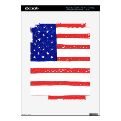 Bandera de WJ LOS E.E.U.U. iPad 3 Skins
