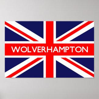 Bandera de Wolverhampton Reino Unido Impresiones