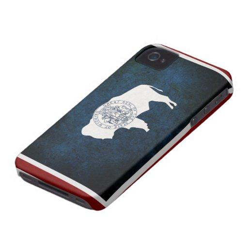 Bandera de Wyoming iPhone 4 Carcasas