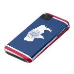 Bandera de Wyoming iPhone 4 Case-Mate Carcasas