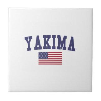 Bandera de Yakima los E.E.U.U. Azulejo Cuadrado Pequeño