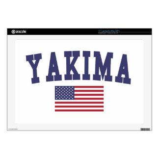 Bandera de Yakima los E.E.U.U. Calcomanías Para 43,2cm Portátiles