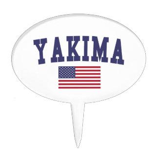 Bandera de Yakima los E.E.U.U. Decoraciones Para Tartas