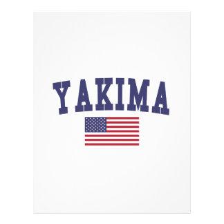 Bandera de Yakima los E.E.U.U. Membrete A Diseño
