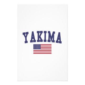 Bandera de Yakima los E.E.U.U. Papeleria De Diseño