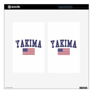 Bandera de Yakima los E.E.U.U. Pegatina Skin Para Kindle Fire
