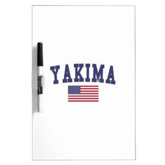 Bandera de Yakima los E.E.U.U. Pizarra Blanca