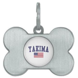 Bandera de Yakima los E.E.U.U. Placas Mascota
