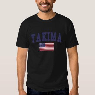 Bandera de Yakima los E.E.U.U. Remeras