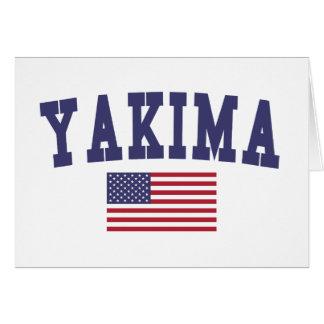 Bandera de Yakima los E.E.U.U. Tarjeta De Felicitación