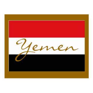Bandera de Yemen Tarjetas Postales