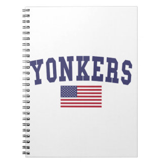 Bandera de Yonkers los E.E.U.U. Libro De Apuntes Con Espiral