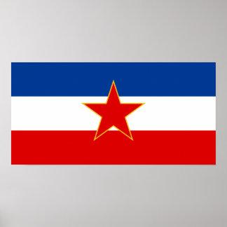 Bandera de Yugoslavia (1945-1992) Póster