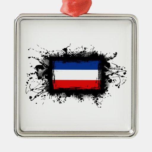 Bandera de Yugoslavia Adornos De Navidad