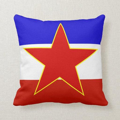 Bandera de Yugoslavia Almohadas