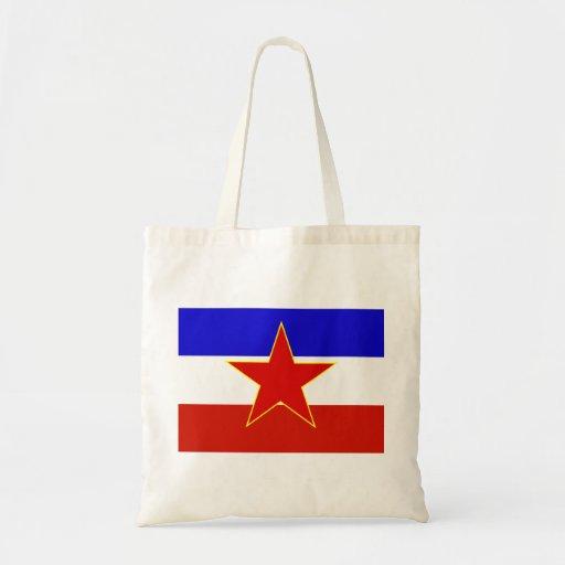 Bandera de Yugoslavia Bolsa Lienzo