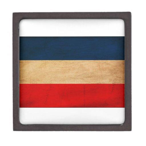 Bandera de Yugoslavia Caja De Regalo De Calidad