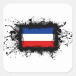 Bandera de Yugoslavia Calcomanías Cuadradass